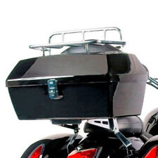Motorcycle Trunk Luggage Case Tail Box w/Top Rack&Backrest for Harley Touring