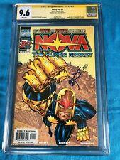 Nova v2 #1 - Marvel - CGC 9.6 NM+ - Signed by Erik Larsen