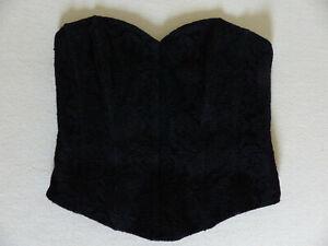 Trachten-Corsage in schwarz wie neu in Gr. 40/42