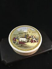 Kirkhams Bull Fight Covered Box 1947    5 Inches