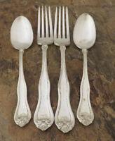 Oneida Leyland Set of 2 Dinner Forks 2 Teaspoons 1881 Rogers Silverplate Lot C