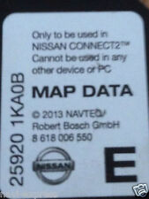 Nissan Connect 2 Navigation Carte SD Europe 2013 Note, Juke, Qashqai, Micra, CUBE...