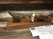 Buck 408MBSPB-B Paul BOS Kalinga Knife Maple Burlwood Handle & Cutout Mint N Box