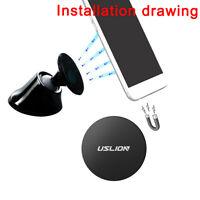 USLION Metal Plate Disc Magnet Holder Magnetic Car Mount Sticker for Cell Phone