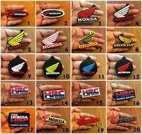 HONDA HRC Racing Keychain Rubber Motor GP Racing Keyring Motorcycle Bike Logo