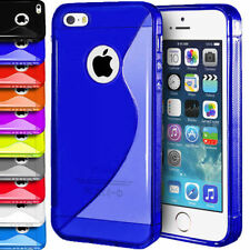 """FOR APPLE IPHONE 6 6S 4.7"""" TPU S LINE SOFT SILICONE CLEAR GEL BACK CASE COVER"""
