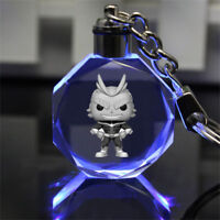 My Hero Academia stand man Crystal Key Chain LED light Pendant key chain figure