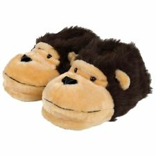 Mens Slippers Soft Warm Fluffy Fun Novelty Monkey Face Adults Slippers All Sizes