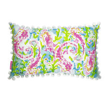 LILLY PULITZER MEDIUM PILLOW SEAHORSE 20 X 12 MED Indoor Outdoor Home Decor NEW