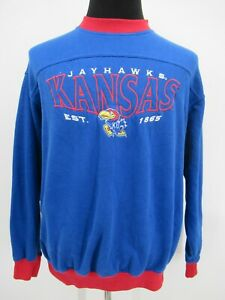 P5540 VTG Lee Men's University Kansas Jayhawks Football Sweatshirt Size L