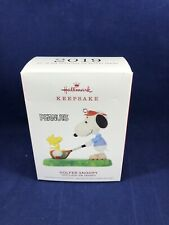 Hallmark Keepsake 2019 Peanuts Spotlight on Snoopy Golfer Snoopy Ornament New