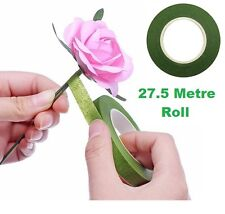 Stem Flower Tape Moss Green Paper 13mm x 27.5M Roll Florist Arranging No Wire