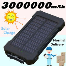 Portable New Solar Power Bank 3000000mAh LED 2USB Polymer Backup Battery Charger