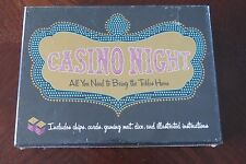 Casino Night Home Casino Game - Dice Chips Mat Cards - Blackjack Craps Poker New