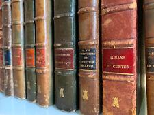 Lot 30 Livres anciens reliés RARE demi-cuir XXème siècle