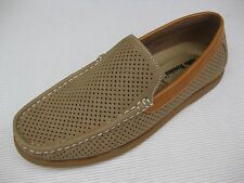 Aldo Rossini Mens Shoes NEW $48 Miami Beige Tan Perf Loafer 11 M