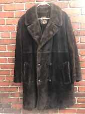 MIGHTY MAC Out O' Gloucester VIntage Leather Suede Sherpa Lined Made In USA
