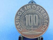 CASINO JETON Silber 100 SCHILLING CASINO ÖSTERREICH  Flughafen Wien (Box 36)