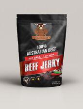 BEEF JERKY 200G HOT CHILLI AUSTRALIAN PERFECT SNACK WINE BEER CIDER SPIRITS