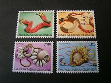 PAPUA NEW GUINEA, SCOTT # 499-502(4) 1979 COMPLETE TRADITIONAL CURRENCY ISS MNH