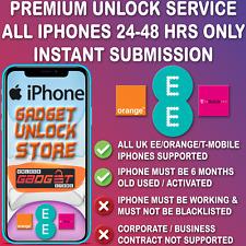 UNLOCK CODE FOR iPhone 8 7 SE 6 6S 5S 5C 5 4 4S PLUS EE UK FAST UNLOCING SERVICE