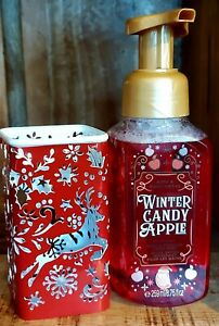 Winter Candy Apple Foaming Handsoap &  Reindeer Holder by Bath and Body Works