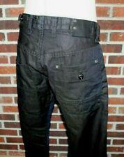 NWOT Men's G-Star Raw 3301 Black Button Fly Jeans Sz 38 x 32 Army Radar Straight