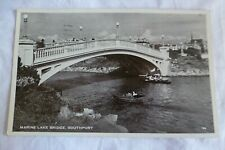 J015 Marine Lake Bridge SOUTHPORT Postcard 1955