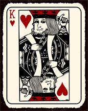 (VMA-L-6575) Suicide King Vintage Metal Art Game Room Poker Retro Tin Sign