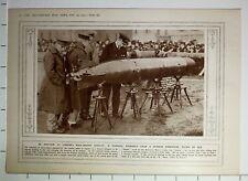 1915 WWI WW1 PRINT LONDONS WAR TROPHY DISPLAY TORPEDO GERMAN SUBMARINE