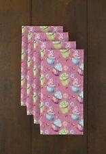 """Cupcakes Pink 18"""" x 18"""" Napkins 1 Dozen"""