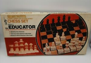 Vintage 1972 Classic Games Beginners Chess Set Edition V The Educator Complete