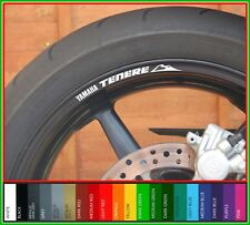 8 x Yamaha Tenere wheel rim decals stickers - xt750z xtz 750 xtz750