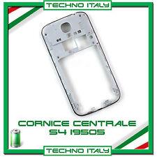 CORNICE CENTRALE per Samsung i9505 Galaxy S4 BIANCO middle FLAT FRAME TASTI