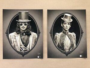 Rare Dracula Portrait Giclee Print Set by Juan Carlos Ruiz Burgos - NT Mondo