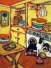 Boston terrier art dog print animals impressionism 13x19 glossy laundry room