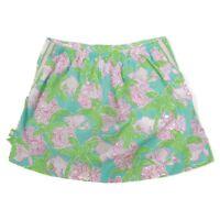 Lilly Pulitzer Cute Lion Cat Girls Skirt size 12 Blue Pink Green Kids - 637