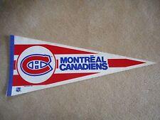 "VINTAGE ORIGINAL 1988 MONTREAL CANADIENS PENNANT FULL SIZE 30"" & FREE HOLDER!"