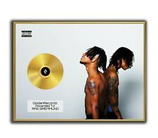 Rae Sremmund Poster, SremmLife 2 GOLD/PLATINIUM CD, gerahmtes Poster HipHop Rap