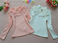 Girl Kids Baby Cotton Lace Long Sleeve Tops Clothes T-Shirt Top Clothing Outfit