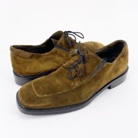 Mezlan Mens Oxford Shoes Green Lace Up Apron Toe Low Top Tassels 11.5