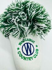 Waccubuc Country Club New York Members Green Pom Knit Rescue Hybrid Headcover