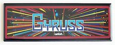 Gyruss Marquee FRIDGE MAGNET (1.5 x 4.5 inches) arcade video game header