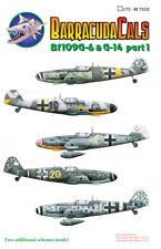 Barracuda 1/72 Messerschmitt Bf 109G-6/G-14 Decals Part 1