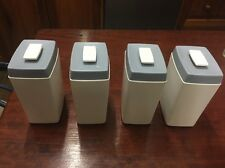 Retro Nylex Canisters X 4 Grey /Off White