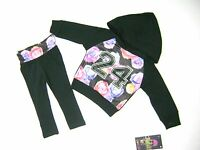 LIQUID GOLD TODDLER GIRLS  2PC  LONG SLEEVE HOODED TOP & LEGGING SET MSRP $40.00