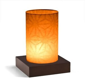 Windlicht Asanoha EKS original Japanpapier Massivholzsockel Glas Japan Teelicht