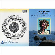 Moomin Tove Jansson Jubilee Silver 10 Euro Mint Coin Finland 2004