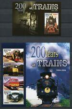 BHUTAN 2005 Eisenbahn Railways Trains 2446-2449 + Block 474 ** MNH