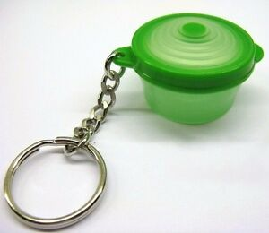 Tupperware Green Stuffable Bowl Keychain - RARE COLLECTIBLE!!